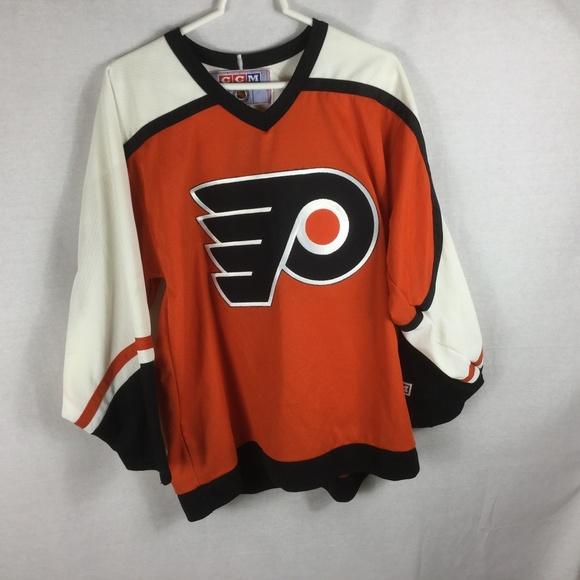 921bb344f Mens Vintage Philadelphia Flyers CCM Sewn NHL. M 5b529ebe61974504f845f8e9